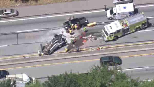 Pa. Turnpike clear after two-vehicle crash