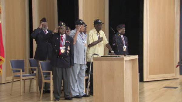 1st African-American Marines honored in East Falls