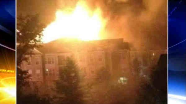5 firefighters injured battling 4-alarm Bucks Co fire