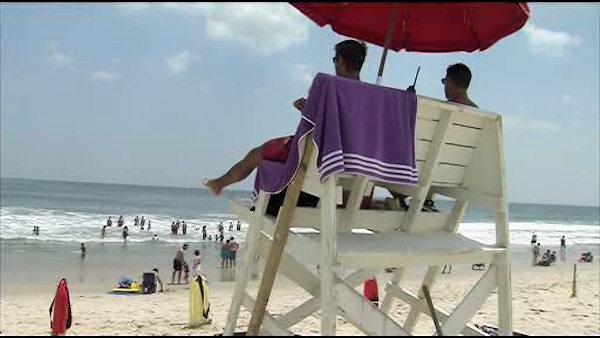 Swimmers warned after 5 drownings at NJ shore