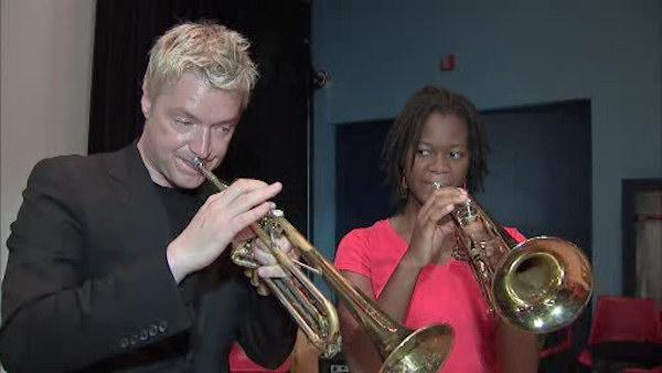 Promising musicians learn from Chris Botti