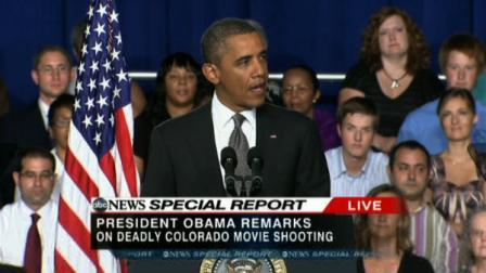 Obama addresses CO mass shooting