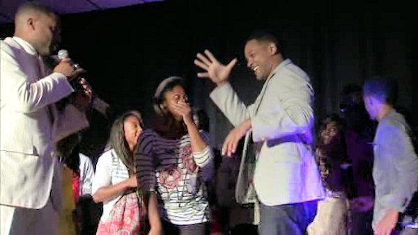 Young achievers meet Will Smith in South Philadelphia
