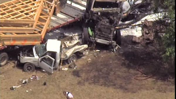 Fatal crash involving pickup, tractor trailer in Gloucester Co.