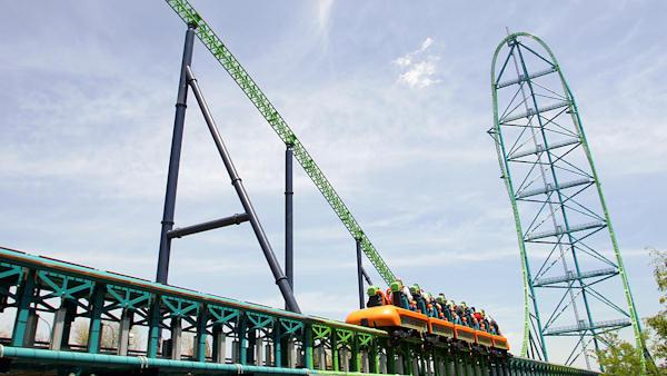 Roller coaster rider struck by bird at Six Flags