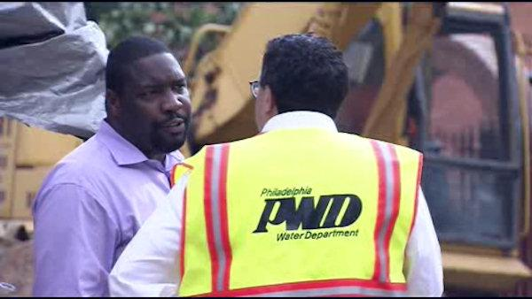 Officials tour site of South Phila. water main break