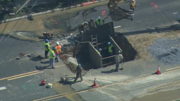 Crews repair water main in Cherry Hill