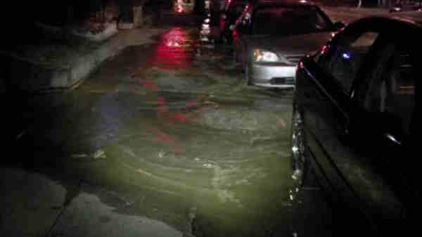 12-inch water main break in Port Richmond