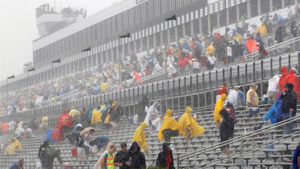 Lightning at Pocono, latest in strikes