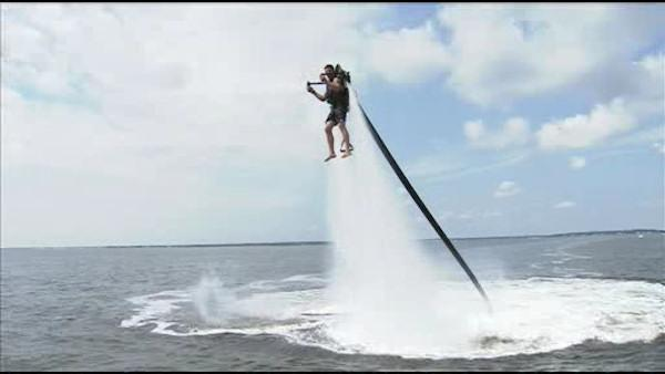 Ride a jetpack at the Jersey Shore!