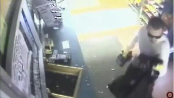 Smash-and-grab burglary at Bensalem  beer store