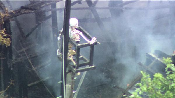 Fire at Bucks County haunted house