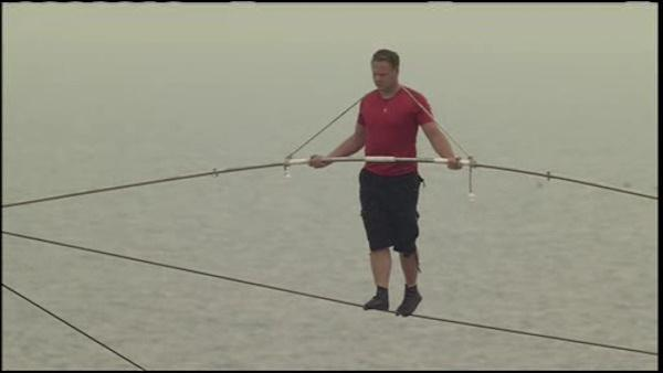Nik Wallenda's tightrope walk over Atlantic City