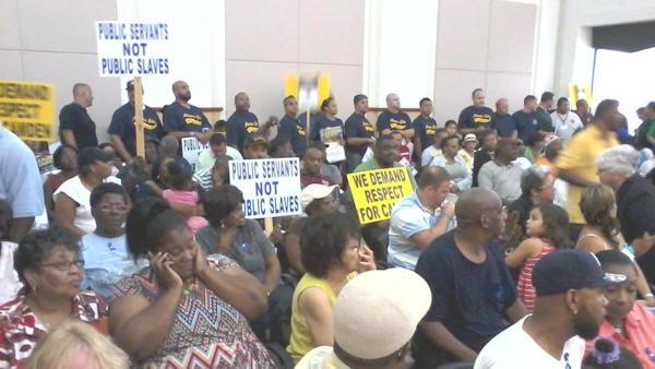 Dozens rally to support Camden Police Department