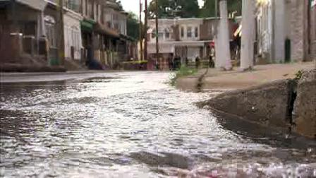 Water main break in Kensington