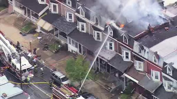 5 firefighters injured in Allentown, Pa. rowhouse fire