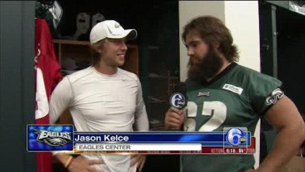 Jason Kelce interviews Nick Foles