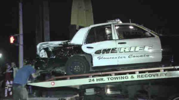 Gloucester Co. officer injured in two-car crash