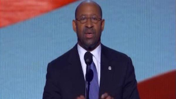 Mayor Michael Nutter addresses DNC