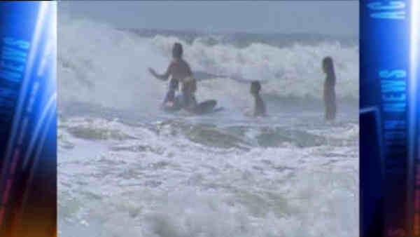 Rip currents halt swimming at AC beaches