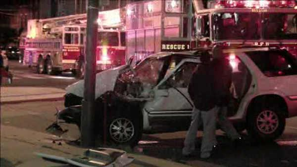 Driver crashes into trolley in Northern Liberties