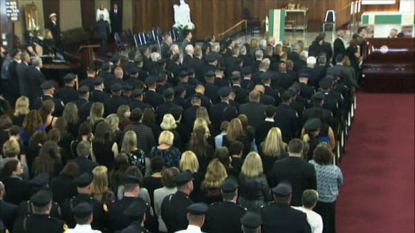 The funeral for Officer Bradley Fox