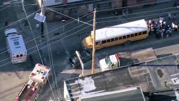 School bus accident in Camden, N.J.; minor injuries reported