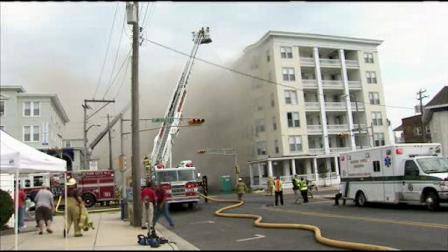 Ocean City, NJ hotel demolition fire