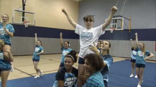 Special needs students included in cheer program