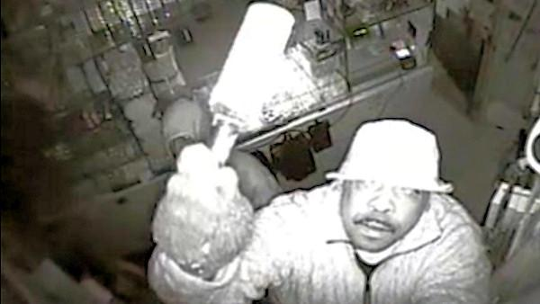 Surveillance of camera-smashing deli burglars in Philadelphia