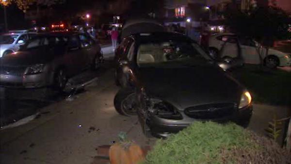 Driver flees after car lands on Camden porch