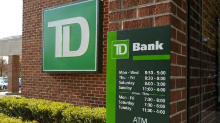 The new TD Bank exterior sign. (PRNewsFoto/Commerce Bank)
