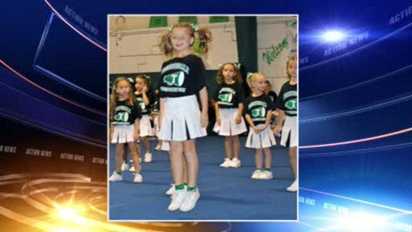 Cheerleaders raise funds for young crash victim