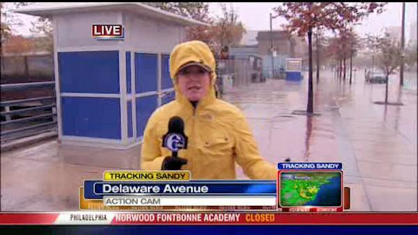 Sarah Bloomqust reports from Delaware Ave. in Philadelphia