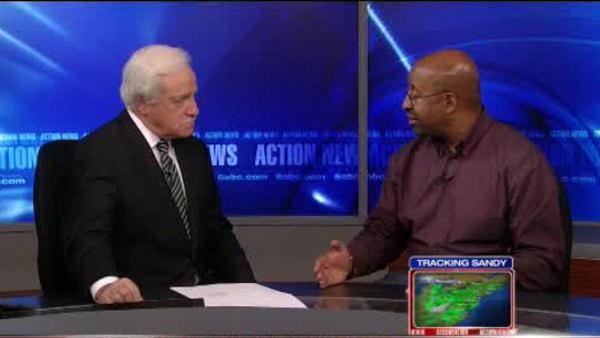 Mayor Nutter and Jim talk Sandy update