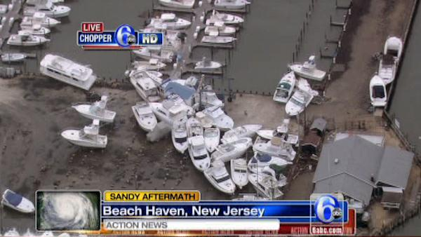Chopper 6 HD over damage in Beach Haven, NJ