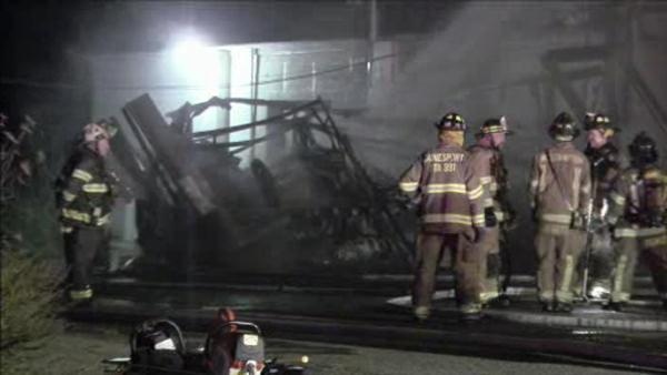Fire destroys 2 industrial trailers in Burlco