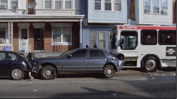 SEPTA bus crash on Olney