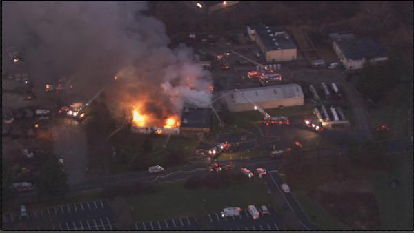 Fire at Bucks County industrial park