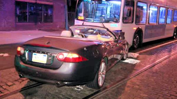 Five injured in head-on crash with SEPTA bus in Phila.