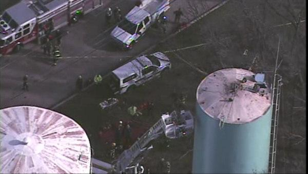 Workers fall into Montgomery County water tank