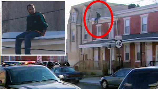 Police: Man on roof tried to evade officers in Delaware