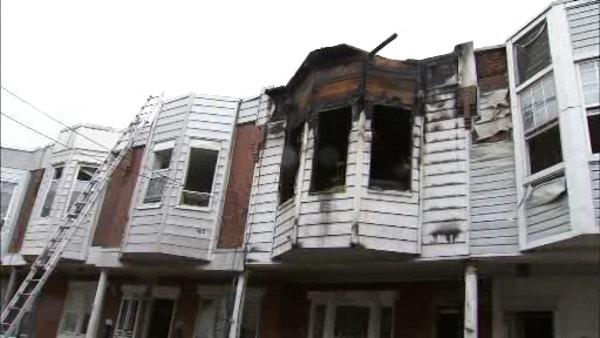 Officer, 2 children hospitalized in Grays Ferry fire
