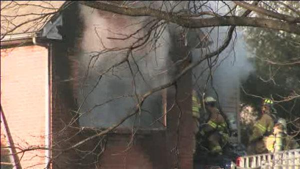 Firefighters battle 2-alarm blaze in Doylestown