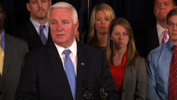 Gov. Corbett to sue NCAA over Penn St. sanctions