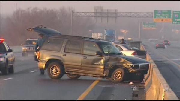 Icy roads cause multiple accidents on I-95 in Del.