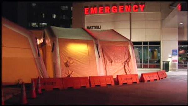 Tent set up for flu patients at Pa. hospital