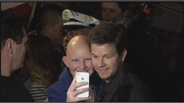 Mark Wahlberg attends Philly film screening