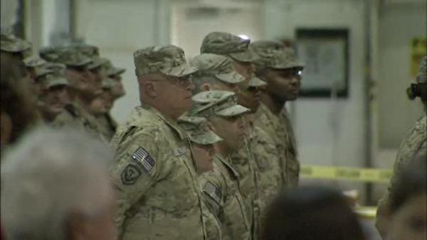 1 year later, soldiers in NJ return home