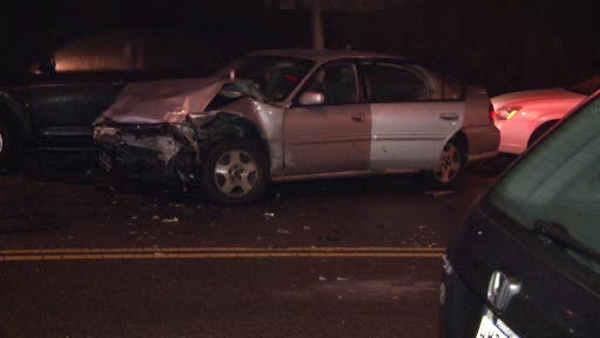 Police chase ends in violent crash in SW Philly